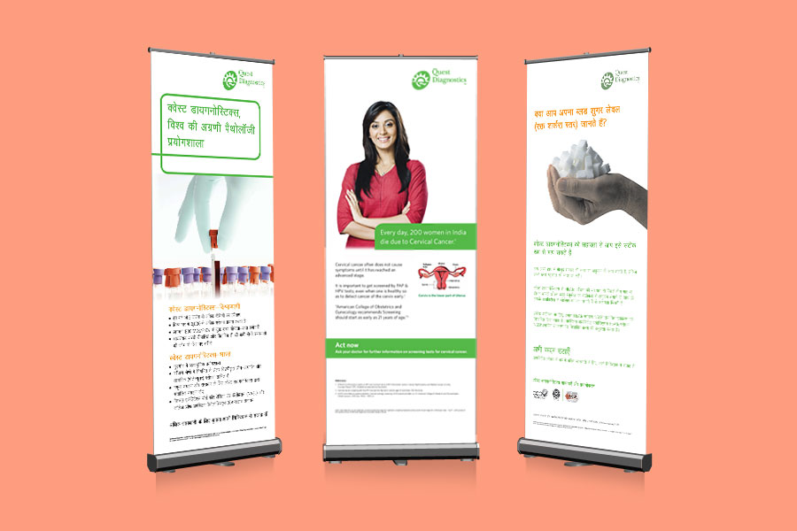 Quest Diagnostics Standee Designs